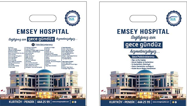 Baskılı Poşet Emsay Hospital