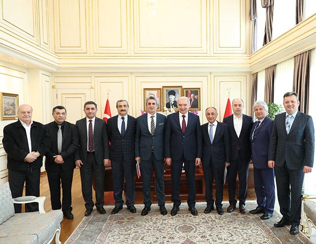 Perpa A Blok Yönetimi İstanbul Büyükşehir Belediye Başkanı Mevlüt UYSAL'ı ziyaret etti.