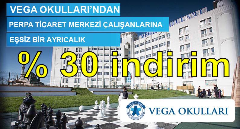 Vega Okullarından Perpa'ya % 30 indirim