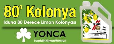 80 Derece Kolonya İduna Limon Kolonyası